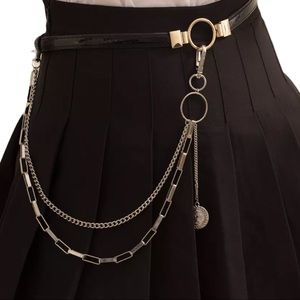 NEW Silver Clip Body Chain Pocket Chains Clip On